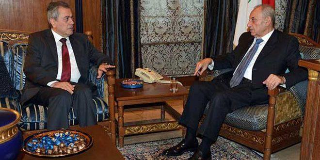 Берри и Абдель-Карим обсудили двусторонние отношения и развитие ситуации в Сирии и Ливане
