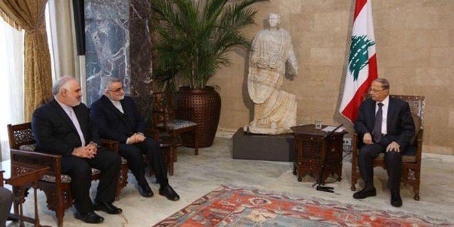 На встрече с Боруджерди Аун выразил надежду на успех усилий пополитическому урегулированию в Сирии