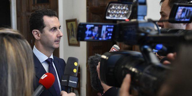 Аль-Асад: На мировой арене изменилось отношение к происходящимв Сирии событиям