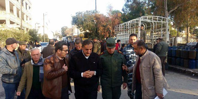 Губернатор провинции Алеппо осмотрел ход восстановительных работ в восточной части города Алеппо
