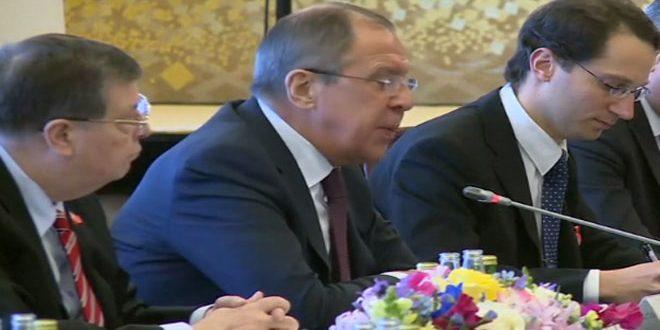 Лавров подтвердил необходимость урегулирования кризиса в Сирии путем диалога в Астане и Женеве