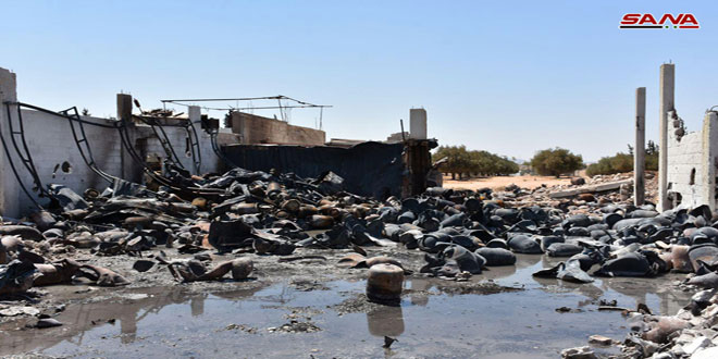 В промышленной зоне Хамы в результате пожара от взрыва баллонов с газом пострадали 11 человек