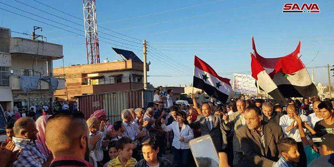 В поселке Дейр Аль-Бахт провинции Дараа прошел митинг в поддержку Сирийской армии