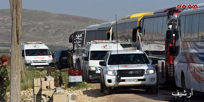 Начинается эвакуация жителей из блокированных террористами посёлков Аль-Фуа и Кафрея в провинции Идлеб