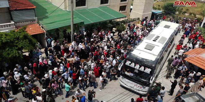 Всенародная встреча около 900 жителей Аль-Фуа и Кафрея, прибывших в город Латакия (фоторепортаж)