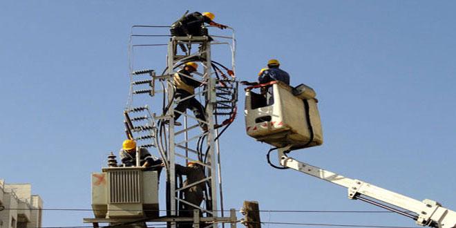 В 52 населенных пунктах провинции Дараа восстановлена подача электроэнергии