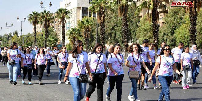 В Дамаске состоялся марафон с целью повышения осведомленности населения о раке молочной железы