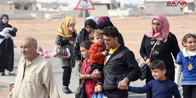 Продолжается возвращение семей в провинции Алеппо, Идлеб и Хама