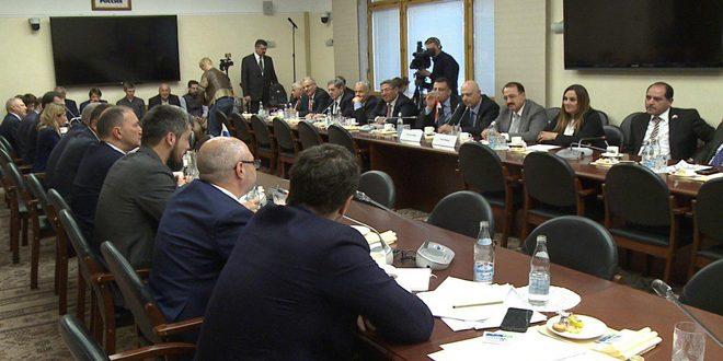 Делегация Народного совета САР находится с рабочим визитом в России