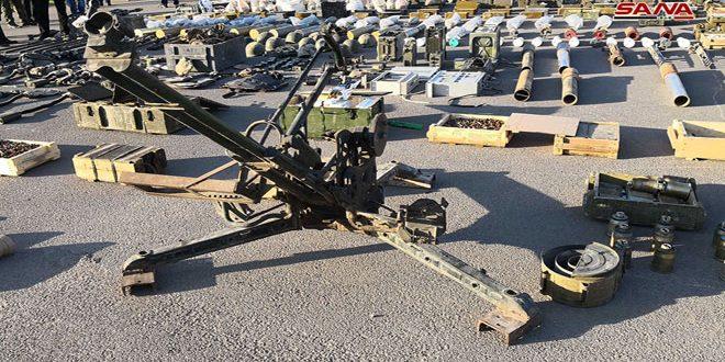 В провинциях Дараа и Кунейтра обнаружено большое количество оружия и боеприпасов террористов - Сирийское арабское информационное агентство САНА