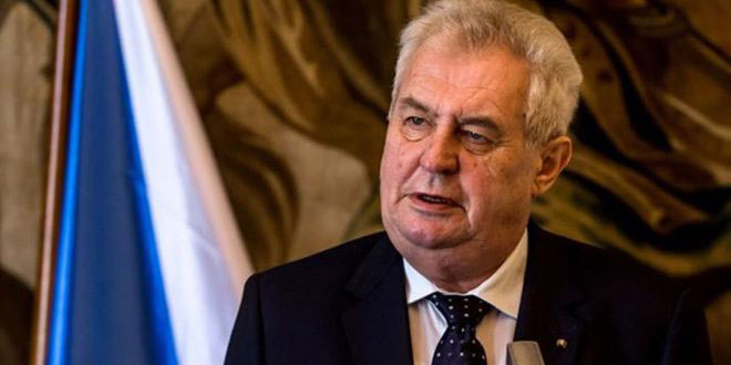 Земан: Логично поддерживать правительство САР в его борьбе против терроризма