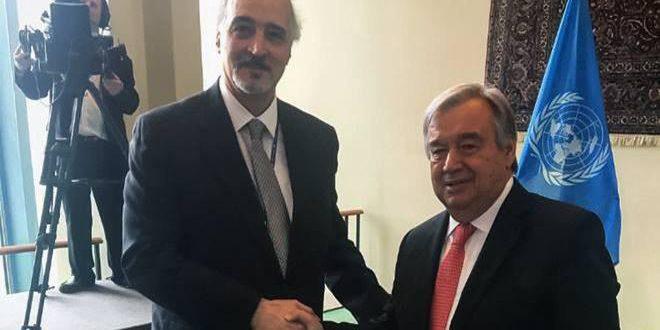 Гутерреш: Позиция международной организации — известна и постянна … Голаны — сирийская земля окупирована Израилем