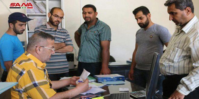 В Дейр-эз-Зоре продолжается выплата денежных средств демобилизованным военнослужащим
