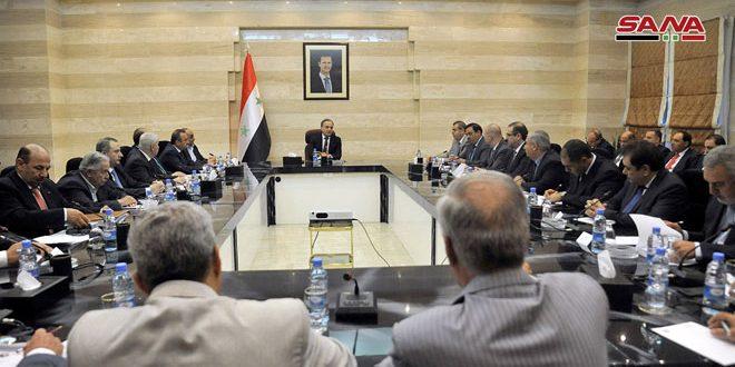 Пять Экономических союзов Сирии приняли участие в заседании под председательством премьер-министра Имада Хамиса