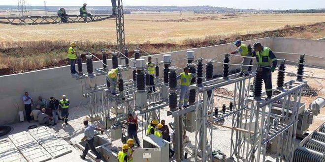 В двух поселках провинции Алеппо после 7-летнего перерыва восстановлена подача энергии