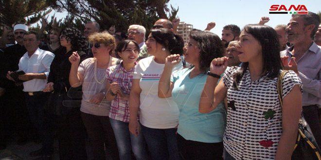 В Сувейде прошел митинг, в свете одержанных побед Сирийской армией в провинциях Хама и Идлеб