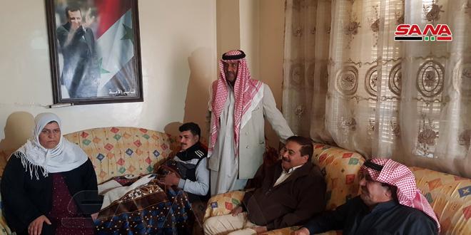 По указанию президента Аль-Асада губернатор провинции Хасаке посетил раненых военнослужащих Сирийской армии