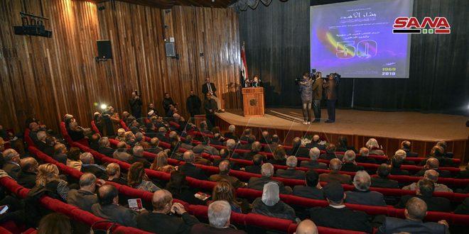Под эгидой президента Аль-Асада состоялось празднование 50-летней годовщины Союза арабских писателей