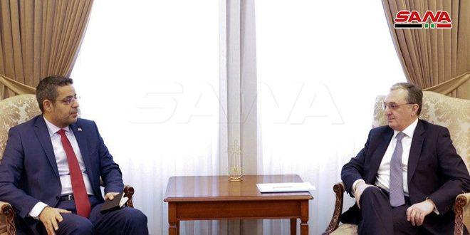 Глава МИД Армении подтвердил позицию своей страны в поддержку Сирии