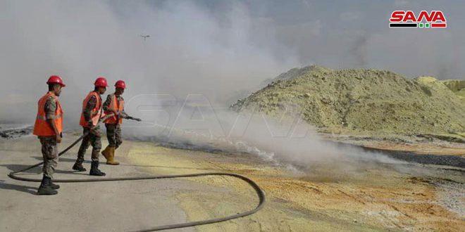 В Хомсе потушен пожар, вспыхнувший из-за возгорания серы
