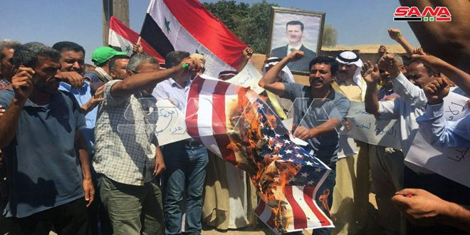 В окрестностях Эль-Камышлы жители протестуют против американской оккупации