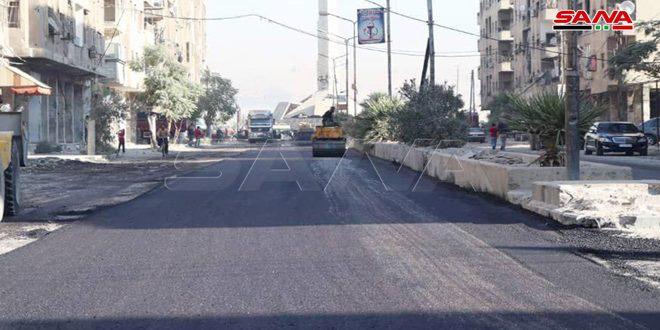 В городе Дума провинции Дамаск ведутся я восстановительные работы