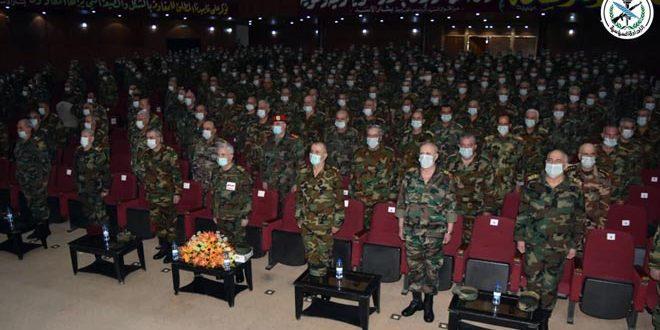 Церемония выпуска новой группы офицеров Высшей военной академии