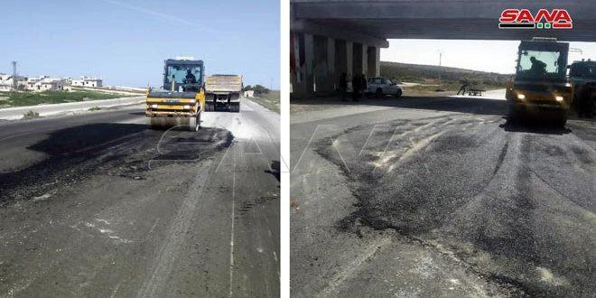 Завершены восстановительные работы на автомагистрали между Хамой и Алеппо