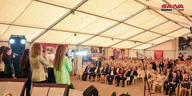 На базе Хмеймим состоялось празднование по случаю 75-й годовщины Дня независимости