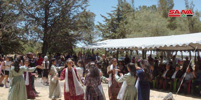 В Сувейде прошел 5-й Фестиваль Весны по случаю победы Башшара Аль-Асада на президентских выборах