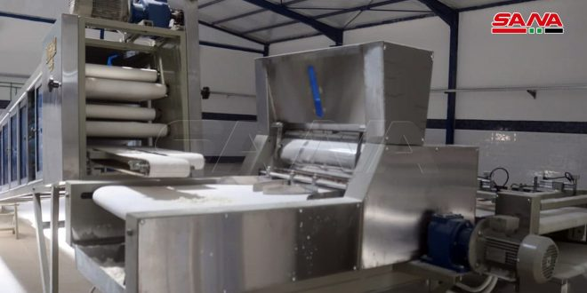 В городе Дейр-эз-Зор в квартале Аль-Хамидия восстановлена автоматизированная пекарня