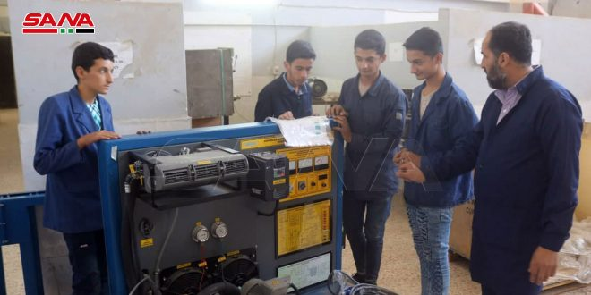 В Дейр-эз-Зор поступила партия оборудования для профтехучилищ