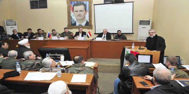 Şam Çevre Kent Valiliğinde Şam kırsalında ulusal uzlaşma komitelerinin çalışmaları