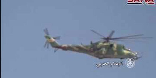 Ordu birliklerimiz Homs kırsalının doğusunda IŞİD Örgütüne karşı geniş kapsamlı