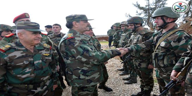 Savunma Bakanı Dera da Ordu Birliklerimizi Ziyaret Etti video