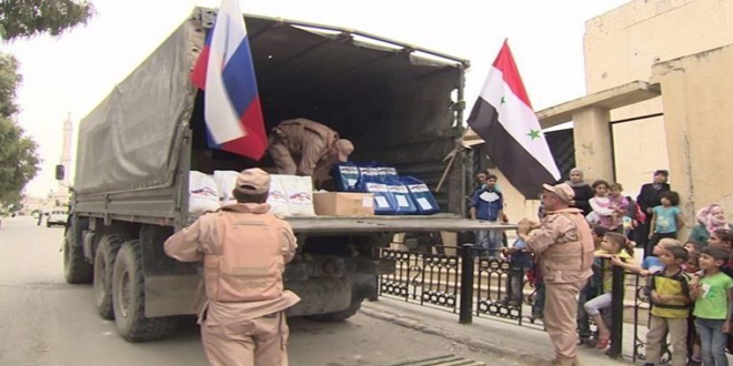 Suriye devleti terörden kurtulan bölgelerde yardım dağıttı