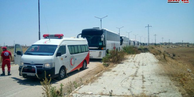 Dera Beled'te Silah Bırakmayı Reddeden Teröristler Otobüslerle Aktarılıyor