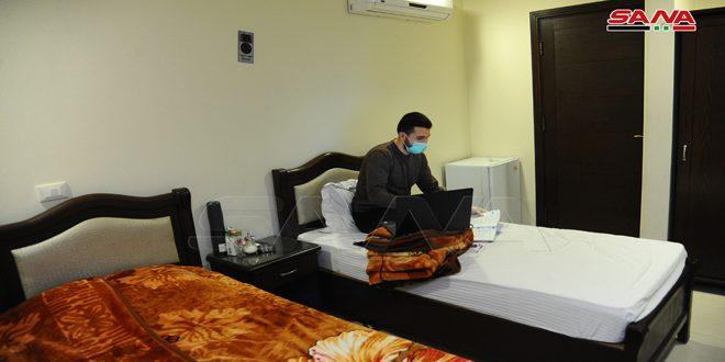 Seyyide Zeyneb'te Karantine Merkezi.. Saat Boyunca Sağlam Otel ve Sağlık Hizmetleri