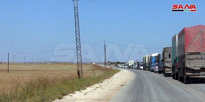 Ordu Birliklerinden Temin Edilmesinden Sonra Haseke Kırsalından Hareketle Araç Ve TIR Kafilesi M4 Karayolunda