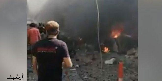 Halep'te Patlayıcı Yüklü Araç ve Motosiklet Patladı 1 Sivil Yaralandı