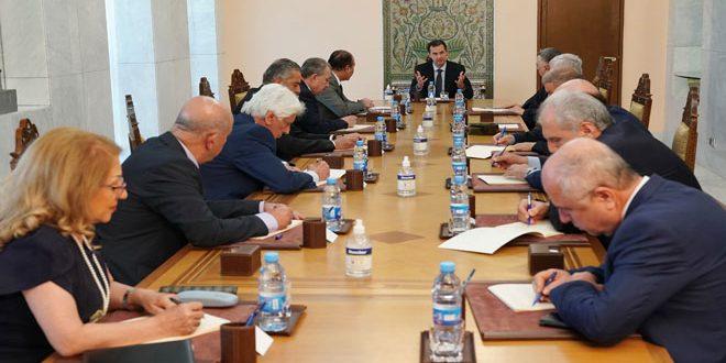Cumhurbaşkanı el Esad Baas Partisi Merkezi Liderliği Toplantısına Başkanlık Etti.. Partizan Seçimleri Deneyiminin Sonuçları Masaya Yatırıldı