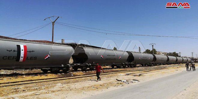 Dokuz Yıl Aradan Sonra, Tartus Limanından Şam Kırsalına Tahıl Taşıyan İlk Tren Ulaştı