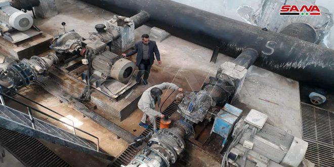 İşgalci Türkiye Tarafından Kesilmesi Ardından Haseke Kırsalı Alluk Kuyuları İstasyonundan Su Pompalanmaya Başlandı