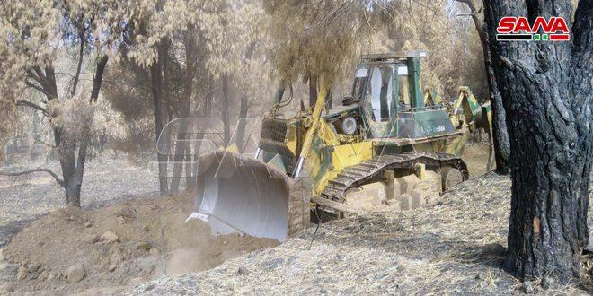 Tel Kalah Kırsalında Burj El Maksur Ormanında Herhangi Yangınlara Karşı Teknik Önlem Kurma Çalışmaları Başlatıldı