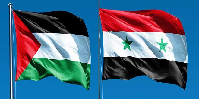 Suriye, Filistin Halkının Kendi Kaderini Tayin Etme Ve Bağımsız Devletini Kurma Hakkını Destekleyen Tutumunu Yineledi