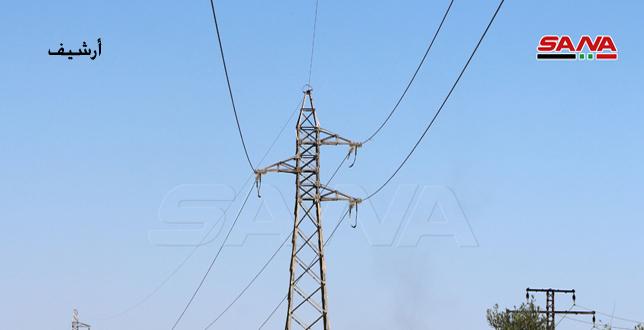 İşgalci Türkiye'nin Kiralıkları Haseke Kırsalı Abu Raseyn Bölgesindeki Yüksek Gerilim Şebekesinin Elektrik Direklerini Şalıyor