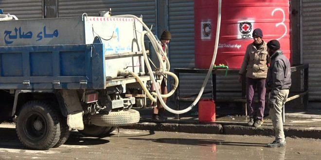 Haseke.. Aluk İstasyonundan Pompalama İşlemi Tamamlanana Kadar Şehrin Mahallelerinde Su Tanklarla Dağıtılıyor