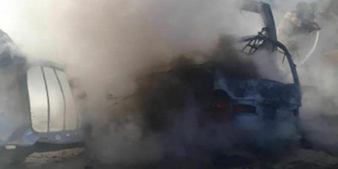 Halep Kırsalında Bomba Yüklü bir Araç Patladı, 12 Vatandaş Yaralandı