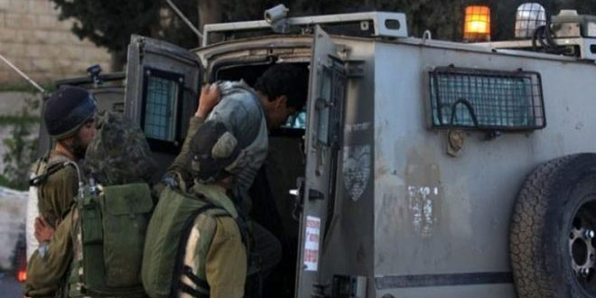 Occupation forces arrest 22 Palestinians in the occupied West Bank