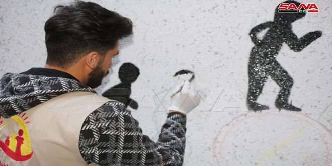 An initiative to redecorate schools and educational facilities in Daraa